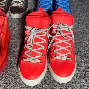 Balenciaga Men's High tip Leather Sneakers